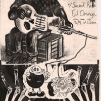 Rock Show Poster:  Electric Ozone Band, , Sacred Rats, Evil Orange
